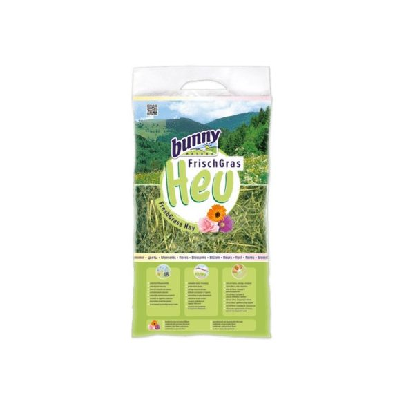 bunnyNature FreshGrass Hay with Blossoms 500g
