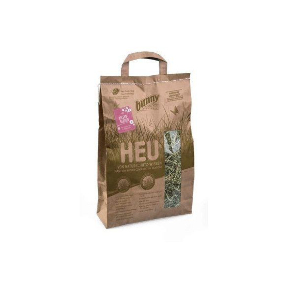 bunnyNature Hay from Nature Conservation Meadows with meadow flowers 250g