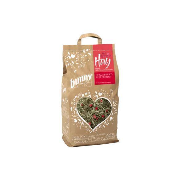 bunnyNature my favorite Hay from nature conversation meadows STRAWBERRY-PEPPERMINT 100g