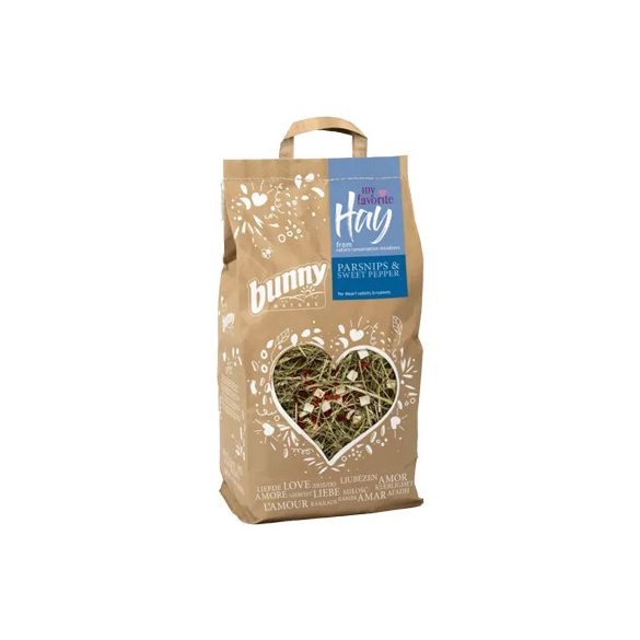 bunnyNature my favorite Hay from nature conservation meadows PARSNIPS & SWEET PEPPER 100g