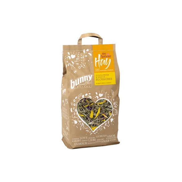 bunnyNature my favorite Hay from nature conservation meadows SUNFLOWER & MALVA BLOSSOMS 100g