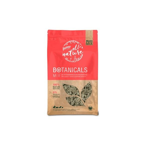 bunnyNature »all nature« BOTANICALS Mix with raspberry leaves & cornflower blossoms 400g