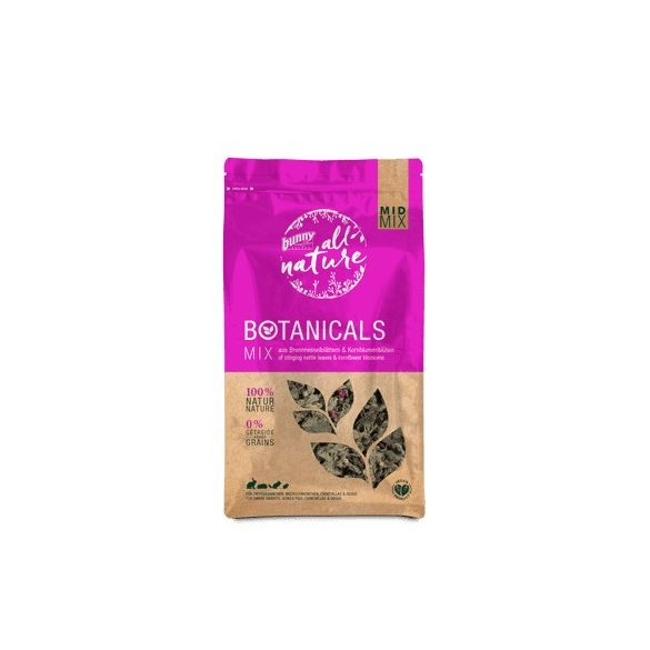bunnyNature »all nature« BOTANICALS Mix of stinging nettle leaves & cornflower blossoms 90g