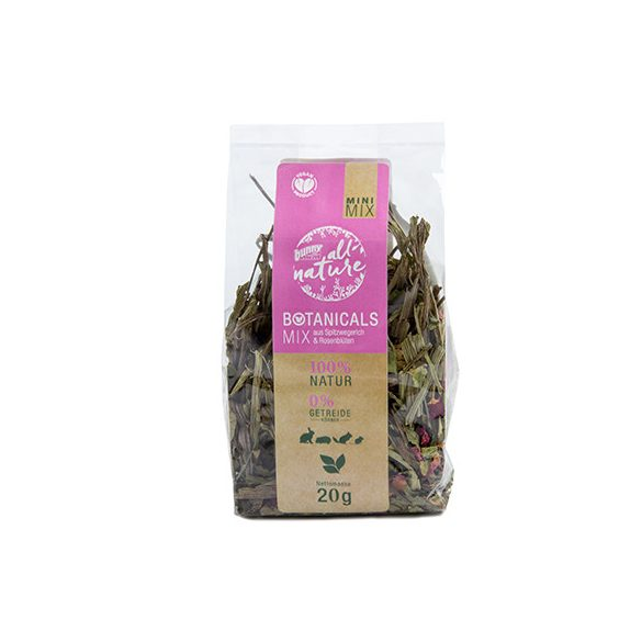 bunnyNature »all nature« BOTANICALS Mix of ribwort & rose blossoms 20g