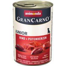 Animonda GranCarno Junior Marha + Pulykaszív 400g