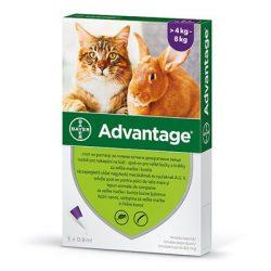 Advantage 80 macska/nyúl 0,8 ml 4kg felett 1x