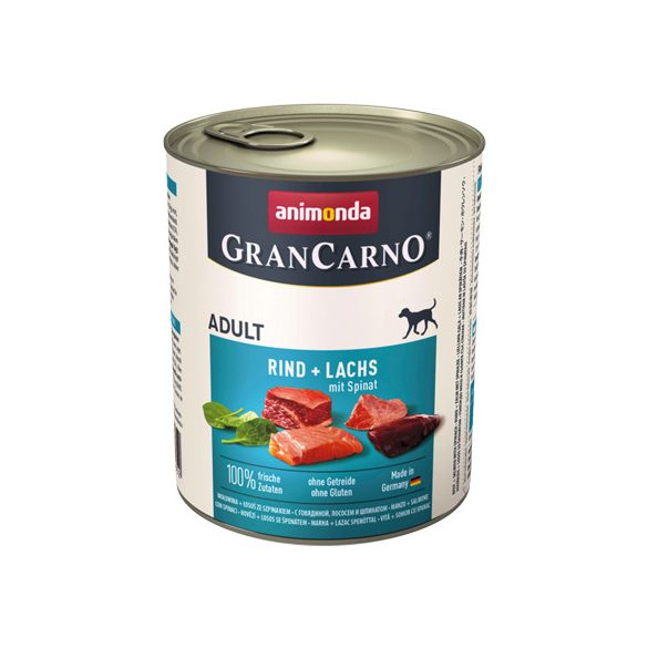 GranCarno Adult Marha + Lazac Spenóttal 800g