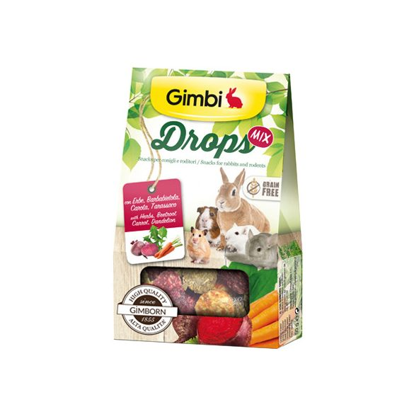 Gimbi snack drops mix 4in1 50g