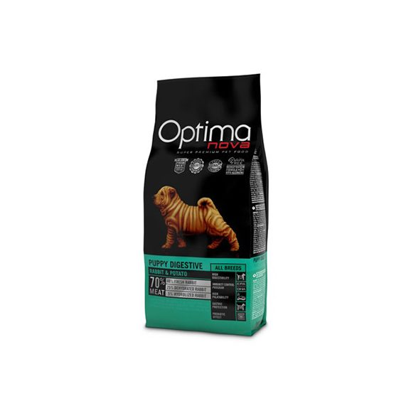 Visán Optimanova Dog Puppy Digestive Rabbit & Potato 2Kg