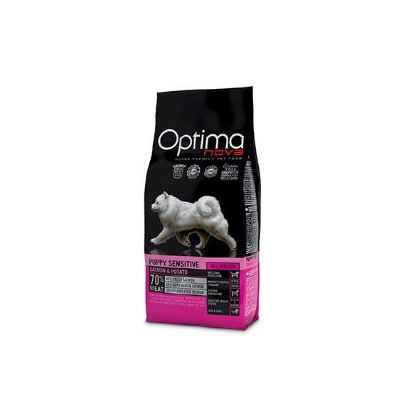 Visán Optimanova Dog Puppy Sensitive Salmon & Potato 12Kg