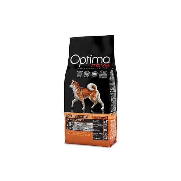Visán OptimaNova Dog Adult Sensitive Salmon & Potato 12Kg
