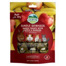 Oxbow - Simple Rewards - Baked Treats with Apple & Banana – Szárított Alma és Banán 60g