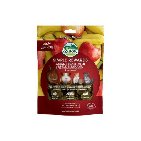 Oxbow - Simple Rewards - Baked Treats with Apple & Banana - Szárított Alma & Banán 85g