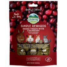Oxbow - Simple Rewards - Baked Treats with Cranberry - Áfonyás 60g