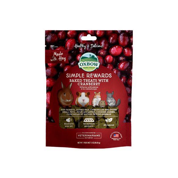 Oxbow - Simple Rewards - Baked Treats with Cranberry - Áfonya 85g