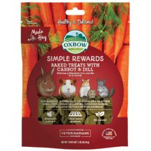 Oxbow - Simple Rewards - Baked Treats with Carrot & Dill - Répás Kapros 60g