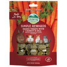 Oxbow - Simple Rewards - Baked Treats with Carrot & Dill - Répás Kapros 60g