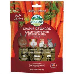 Oxbow - Simple Rewards - Baked Treats with Carrot & Dill - Répás Kapros 85g