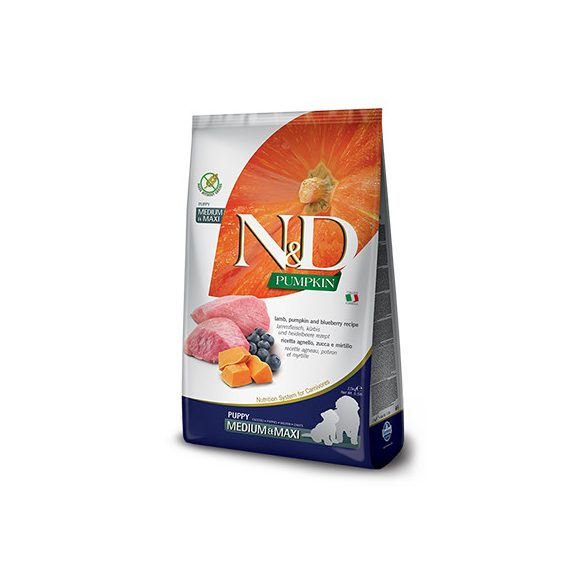 N&D Dog Grain Free Bárány & Áfonya Sütőtökkel Puppy Medium/Maxi 12kg
