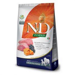 N&D Dog Grain Free Bárány & Áfonya Sütőtökkel Adult Medium/Maxi 12kg