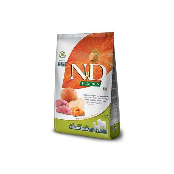 N&D Dog Grain Free Vaddisznó & Alma Sütőtökkel Adult Medium/Maxi 12kg