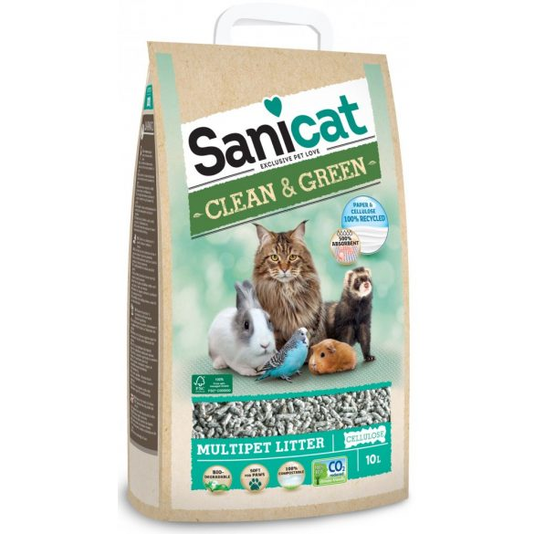 Sanicat Clean & Green Cellulóz Macskaalom 10l