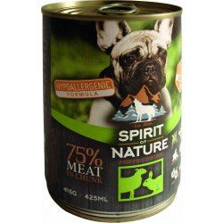 Spirit Of Nature Dog Konzerv Bárányhússal és Nyúlhússal 415g