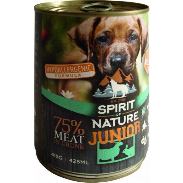 Spirit of Nature Junior Dog Konzerv Bárányhússal és Nyúlhússal 415g