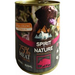 Spirit Of Nature Dog Konzerv Vaddisznóhússal 800g