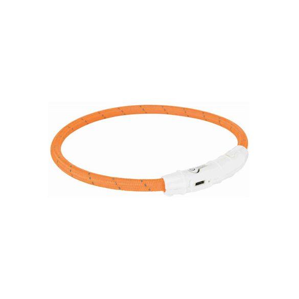 Trixie világító gyűrű USB-ről tölthető narancs XS-S 35cm