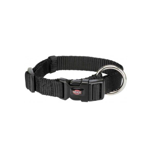 Trixie Prémium nyakörv S-M fekete 30-45cm / 15mm