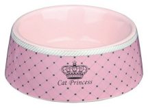 Trixie Cat Princess Kerámia Tál 0,18l/12cm Pink