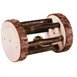Trixie Játék Fából Henger Csengővel Rágcsálóknak 7×5cm