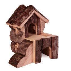 Trixie Ház Fából Kétszintes Feljáróval Rágcsálóknak Bjork 15×15×16