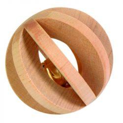 Trixie Játék Fából Labda Csengővel Rágcsálóknak 6cm