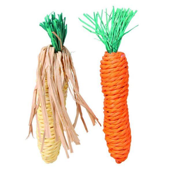 Trixie Fogkoptató Szalma Rágcsálóknak Kukorica És Répa 2db 15cm