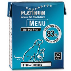 PLATINUM MENU FISH+CHICKEN - HAL+ CSIRKE KONZERV 375g